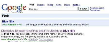 Search: Blue Nile
